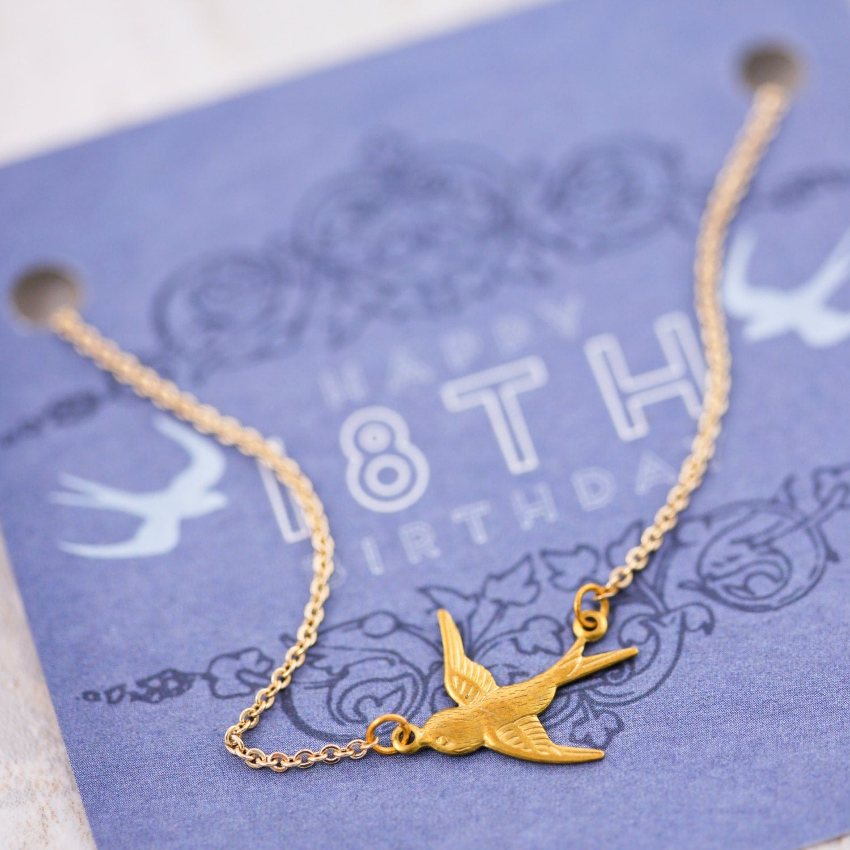 18th Birthday Heart Initial Bracelet 18th Birthday Jewelry: 18th Birthday Birthday Gift Gold Necklace 18th Birthday
