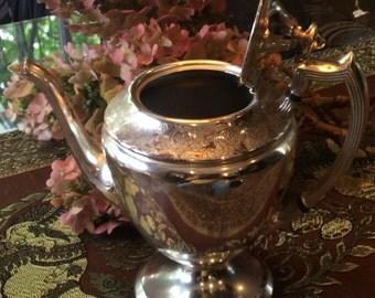 Vintage Silver Plate Tea Pot