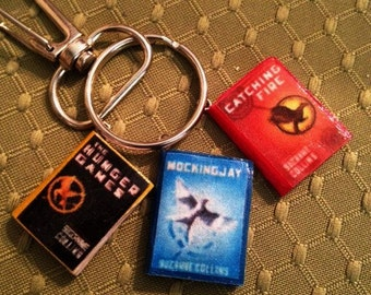 Mini Book Keychains, Magnets & Pins: The Hunger Games Trilogy by Suzanne Collins Mini Books