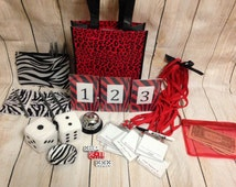 12 Person Basic Bunco Game Starter Kit: Score cards, Name Tags, Dice, Custom Table Numbers and more!! Girls Night Out!