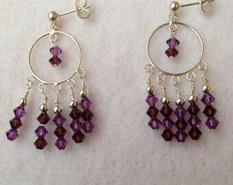Sterling silver and Swarovski Chandelier Earrings