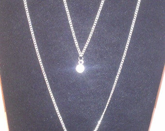 double-strand chain necklace - crystal rhinestones