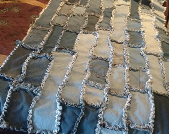 Twin Jean Quilt