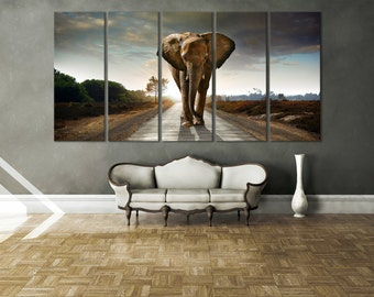 Elephant Wall Art Print / Elephant Art Décor / Extra Large Wall Art Elephant Wall Décor Large Artwork Wildlife Wall Art Giclee Print