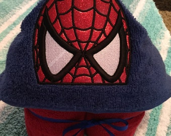 Hooded Towel Spider Hero personalized