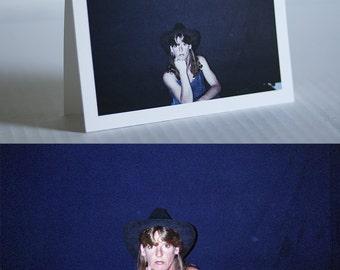 "Rescued Film ""Cowgirl"" Card (Blank)"