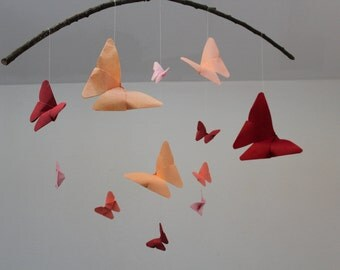 Butterfly mobile, mobile origami, baby, mobile mobile paper, decorative suspension