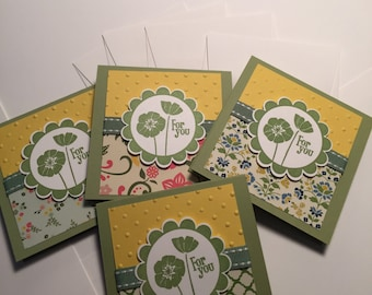 """Stampin Up Set of Four note cards """"For You"""""""