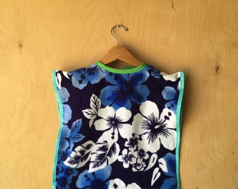 Hawaiian Towel Bib/Smock - Full coverage Terry Cloth bib