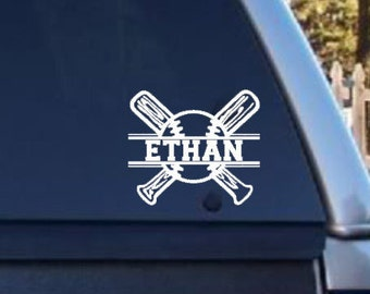 Custom Baseball decal, Baseball Yeti decal, Personalized Baseball Sticker, Custom Baseball Sticker, Baseball Window Decal, Baseball gift