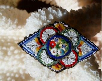 Italian Micro-Mosaic Pin/Brooch