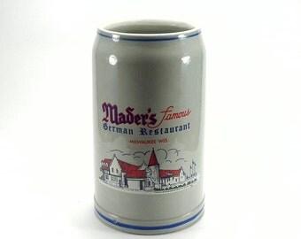 Mader's Restaurant Stein Mug 32 oz. Milwaukee WI
