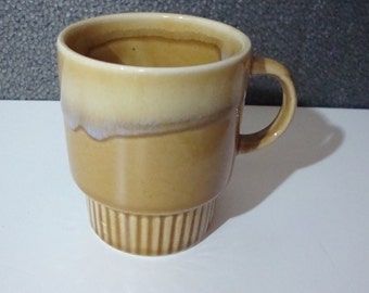 Vintage Gold Drip Glaze Coffee Mug Decorative Stackable Cup