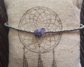 Amethyst Silver Delicate Bracelet