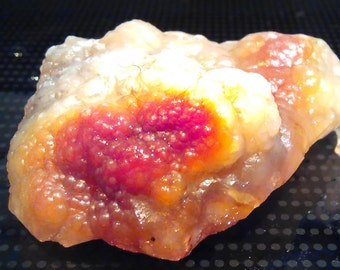 """Rare """"Surface Blazing"""" Fire Agate/ Rose Chalcedony All Natural Rough 170 ct, 34 gm"""