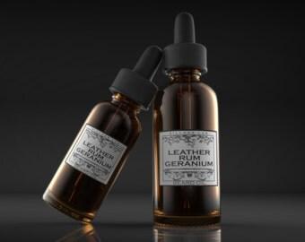 Leather Rum Geranium,  beard oil, tonic, all natural