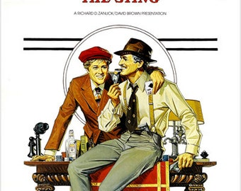 Robert Redford Paul Newman The Sting Movie Poster Entertaining Classic 24x36