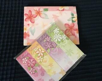 Set of Hawaiian sticky notes & flags