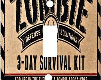Decorative Decoupage Light Switch Covers - Made to Order - Zombie Survival Kit