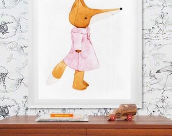 Fox (03) - water color art prints