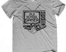 GAMER GIFT old school gamer t-shirt Nintendo shirt Pixel art t-shirt Boyfriend birthday gift N64 gamer Nerdy t-shirt Husband gift tee