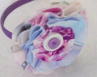 Young Girls Fabric Flower Headband