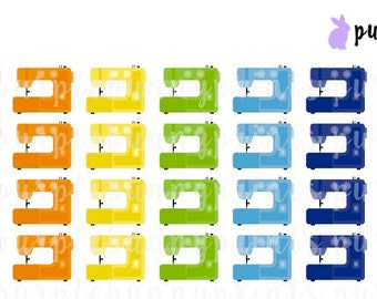 Rainbow Sewing Machine Icons // Planner Stickers!