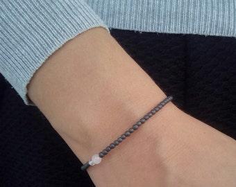 Hematite bracelet, gemstone bracelet, beaded bracelet, gift jewelry