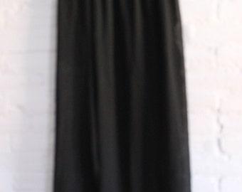 Long Black Size Small Sheer Skirt