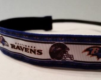 Ravens non-slip headband grosgrain ribbon football headband