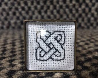 Cross Stitched Celtic Ring
