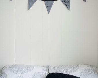 "Banner of ""Geometric"" pennants"