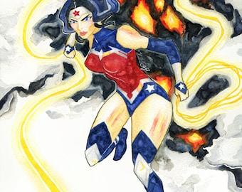 Wonder Woman - Watercolour Art Print to Download
