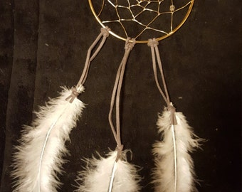Clear Speckled Glass Bead Accent Dream Catcher