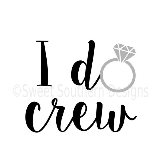 i do crew with ring svg instant download design for cricut or clipart wedding rings entwined clipart wedding rings png