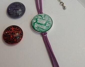 Purple Suede Interchangeable bracelet