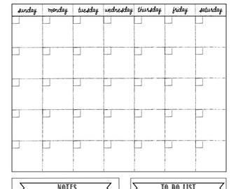 White dry-erase calendar - 18x24 - family calendar - custom wall calendar