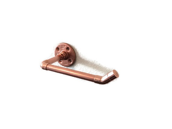 Industrial Wall Copper Pipe Copper Toilet Paper Holder