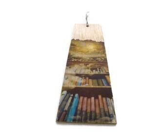 Wood bookmark - Wooden bookmarks - library - Sky bookmark - Unique bookmark - Bookshelf bookmark - Handmade bookmark - Gift bookmark