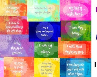 20 Inclusive Birth Affirmations - Printable Files