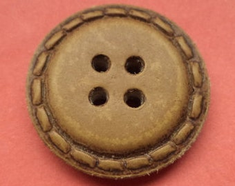 Leather buttons 8 leather buttons Brown 23 mm (5571)