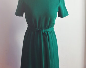 """1960s Green Mod Scooter Spring Party Dress by Shannon Rodgers for Jerry Silverman/Waist 28"""""""