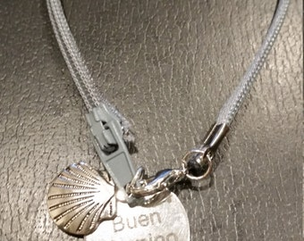 Buen Camino bracelet with scallop shell charm