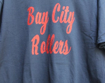 Bay City Rollers T-Shirt (bright-red glitter)