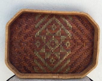 Ratan tray vintage