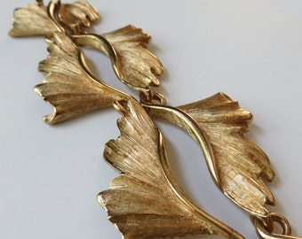 Vintage Napier Necklace Vintage Jewelry 1960's Napier Gold Tone Leaf Necklace Costume Jewelry Napier Necklace