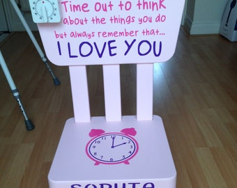Pink Time Out Chair/Timeout Chair - Personalised