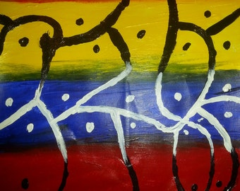 "Original Acrylic Painting - ""Native Transition"""