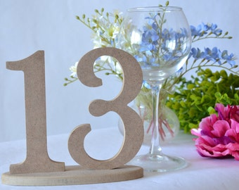 Table numbers set 1-13 Wedding numbers Wooden table numbers Wooden number set Wedding decor Wedding sign Wooden decor Rustic wedding set