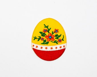 Set of 1 - The Easter Egg (Yellow). Iron-on Patch/Flex stickers/Applique